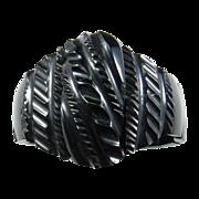 Victorian Carved Whitby Jet Bracelet
