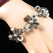 Joseff of Hollywood Bow Bracelet in Antique Silver Finish
