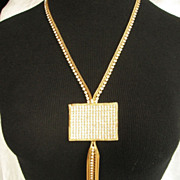 Groovy Hobe Rhinestone Necklace from 1965