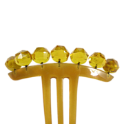 Victorian Horn and Crystal Comb