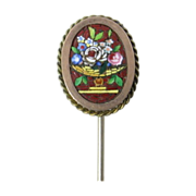 Victorian Micro Mosaic Stick Pin with Urn