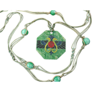 Art Deco Egyptian Revival Celluloid Necklace