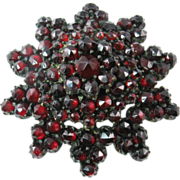 Victorian Garnet Brooch of Ten-pointed Star