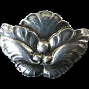 Georg Jensen Flower Brooch No. 107