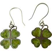 SOLD Connemara Marble Four Leaf Clover Earrings