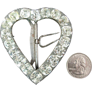 Huge Heart-Shaped Late Georgian / Early Victorian Paste Buckle