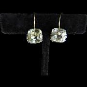 SOLD Georgian Rock Crystal Solitaire Earrings