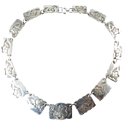 Sterling Silver Necklace with Floral Designs