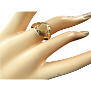 Rose Gold Signet Ring 10K