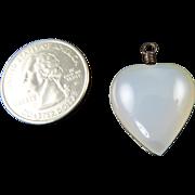 Vintage Chalcedony Heart Pendant