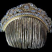 SOLD Large Georgian Paste Tiara Comb