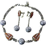 Miriam Haskell Art Deco Style Necklace and Earring Set