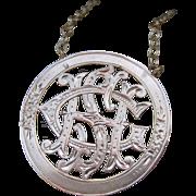"Victorian ""GHS"" Love Token Converted Necklace 10k & 14k"