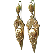Radiant Victorian Revival Urn Earrings 15k