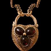 Love & Luck Victorian Heart Padlock 12k & 14k