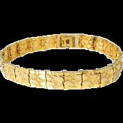 REDUCED 14k Gold Nugget Bracelet 24.5g Estate Vintage Unisex