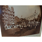 1897 GAR Encampment Parade Soldiers Monument Army Corp Badges Buffalo NY