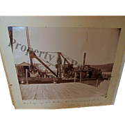 Antique Photo Building Harbor at Branchport NY Keuka Lake Historical