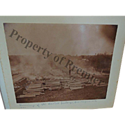 1893 Burning of the Basket Factory Yates Town Of Jerusalem NY Branchport