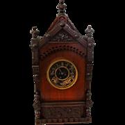 Antique Victorian Cabinet Clock F. Kroeber 1874 German Working