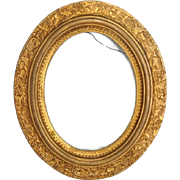 Victorian Oval Picture Frame Antique Gilded