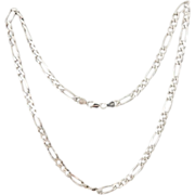 SALE Men's STERLING Silver Figaro Chain 40g Italy