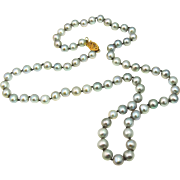 SALE SILVER Cultured Pearls 14k Gold Clasp