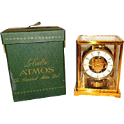 SALE 1950s LeCoultre Atmos Clock 526-5 Needs Tune Up Original Box