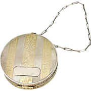 Deco Sterling Silver Elgin Compact Dance Purse Dated 1923