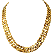 BOLD Napier Gold-Tone Necklace Chain Wear Two Ways Vintage