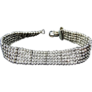 REDUCED Glittering Faceted Silver Beads Bracelet Italy The look of Diamonds - Sterling 925