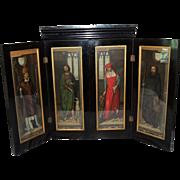 "REDUCED Antique Hans Memling Polyptych Victorian ""PASSION"" Altarpiece Shrine Chromol"