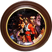 Star Wars Trilogy Collector's Plate Framed Limited Ed w Box & COA
