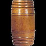 SALE 1930's   Tobacco  Humidor  Barrel   Wood Turned