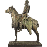 Emmanuel Fremiet French Bronze Sculpture Signed Chef Gaulois