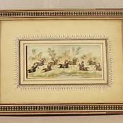 SALE Persian Miniature Painting on Bone POLO PLAYERS