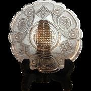 Boston Sandwich Glass  Cup Plate  PEACOCK EYE  1835-1850  SCARCE