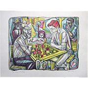 REDUCED Irving Amen The Chess Strategy Print Signed 36/300