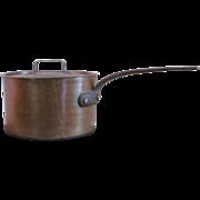SALE 9+ lb.  Copper Pan  Copper Pot  France   VINTAGE  Pot & Cover