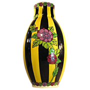 """SOLD 12"""" x 6""""  Boch Freres  Vase  Majolica  Charles Catteau  1920's"""