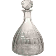 RARE SHAPE-PATTERN  Baccarat Decanter  1920's  Cut Glass Crystal