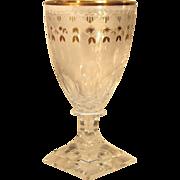SALE SET-FIVE  1940's  Kosta Boda  Cut Glass  Goblet  Wine  RARE