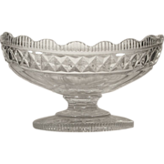 SOLD c.1810  Irish Cut Glass Centerpiece Bowl Anglo