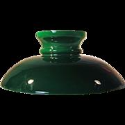 Rare Shape 1870's Emerald Cased Glass  Lamp Shade