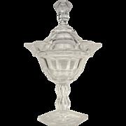SALE RARE  Anglo/Irish Cut Glass  Compote  Sweet Meat Jar 1850-60's
