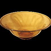 c.1910  SIGNED  Sinclaire  Bowl  Centerpiece  Amber  SUPERB