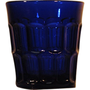RARE  Flint  EAPG  Tumbler  Deep Blue  c.1840-70   Three Mold