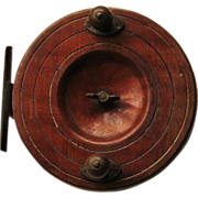 SOLD c.1800's  Nottingham  Fishing Reel  Mahogany and Brass  EXCEPTIONAL