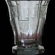 SALE JOSEF HOFFMANN  Moser   Art Deco  Cut Glass   Vase   1930's     Stunning