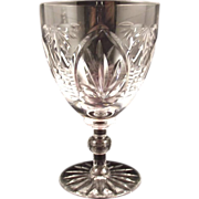 Webb Corbett Water Goblet  Gothic Pattern  Red Wine